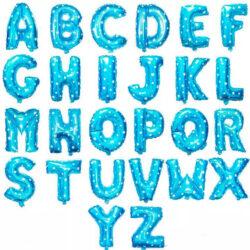 harf ve yazı folyo mavi folyo balon