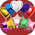 Kalp ve Yıldız Folyo Balon
